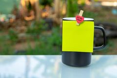 A black coffee cup royalty free stock photo