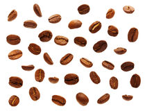 Black coffee grain, bean Royalty Free Stock Image