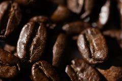 Black coffee grains Stock Photo