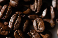 Black coffee grains Royalty Free Stock Photography