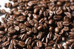 Black coffee grains Royalty Free Stock Images