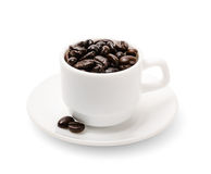 Black coffee grains Stock Photography