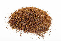 Black coffee grains and Grinded. Aroma arabic fresh coffee grains and Grinded Royalty Free Stock Photo