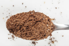 Black coffee grains and Grinded. Darc arabic aroma coffee grains and Grinded Royalty Free Stock Image