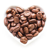 Black coffee heart Royalty Free Stock Photo
