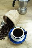 Black coffee home made royalty free stock images
