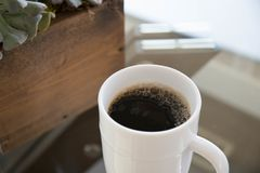 Black Coffee Home. A warm cup of Joe in the morning stock images