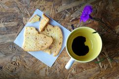 Black coffee in love Royalty Free Stock Photo