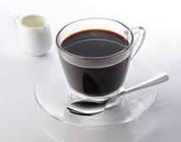 Black Coffee with Milk Royalty Free Stock Photos
