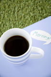 Black coffee in the morning Stock Images