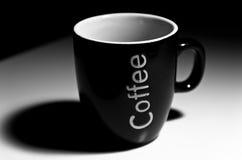 Black coffee mug Stock Photo