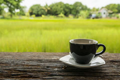 Black coffee mug royalty free stock photography