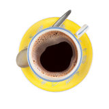 Black coffee in nicely patterned cup Royalty Free Stock Photos