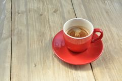 Black coffee in red coffee cup Stock Image