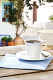 Coffee served at a Greek island Royalty Free Stock Photos
