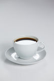 Black coffee served in white cup Stock Photo