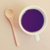 Black coffee and spoon Royalty Free Stock Photography