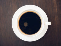 Black coffee with sugar in a cup Royalty Free Stock Photos