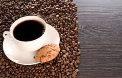 Black coffee on the table Stock Photography