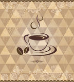 Black coffee vintage pattern Stock Image