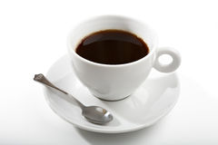 Black coffee in a white coffee cup Stock Image