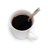 Black coffee in white cup Royalty Free Stock Image