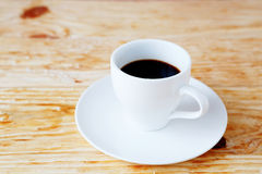 Black coffee in a white cup Royalty Free Stock Photography