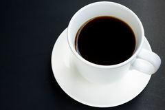 Black coffee. White Cup of black coffee Stock Photo