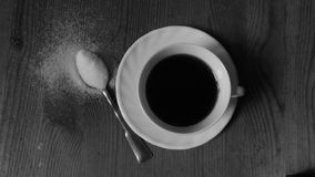 Black coffee. A white cup of coffee Royalty Free Stock Photography