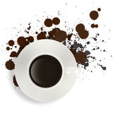 Black Coffee in White Cup Stock Photography