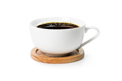 Black coffee in white cup Stock Image