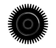 Black cogwheel on a white. Background, vector Stock Photography