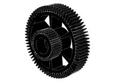 Black cogwheel on a white. Background, vector Royalty Free Stock Image