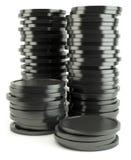 Black coin Stock Photography