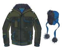 Black cold jacket Stock Photography