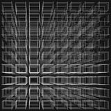 Black color abstract infinity background, 3d structure with white rectangles forming illusion of depth and perspective. Vector illustration Royalty Free Illustration