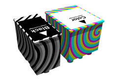 Black and color cartridges (3D) Royalty Free Stock Photo