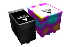 Black and color cartridges (3D) Stock Images