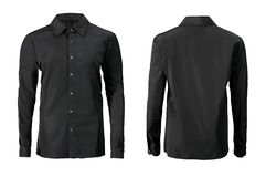 Free Black Color Formal Shirt With Button Down Collar Isolated On White Stock Photos - 112181773