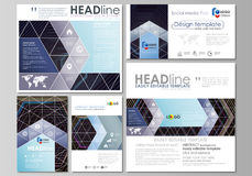 Black color geometric design, hexagonal geometry. Social media posts set. Business templates. Vector layouts in popular. Social media posts set. Business Royalty Free Illustration