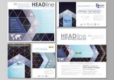 Black color geometric design, hexagonal geometry. Social media posts set. Business templates. Vector layouts in popular. Social media posts set. Business Stock Photos