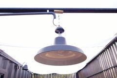Black color lamp outdoor decoration Royalty Free Stock Photos