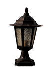 Black color metal post lamp Royalty Free Stock Images