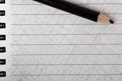 Black color pencil with coloring Stock Photos