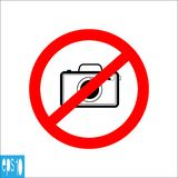 Black color photo camera forbidden icons, sign , do not take photo - vector illustration stock illustration