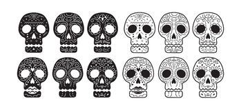 Day of the Dead Skull Set Royalty Free Stock Images