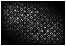Black Color of Thai Vintage Wallpaper Pattern Background Royalty Free Stock Photography