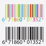 Black and colored barcode. Stock Photo