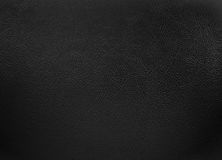 Black colored leather texture background Stock Images