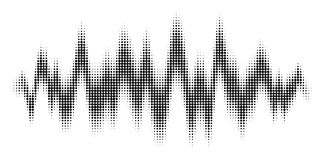 Vector Equalizer wave Effect Royalty Free Stock Image